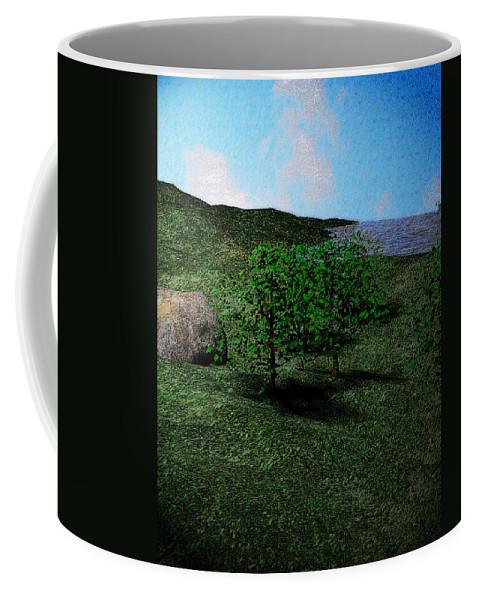 Scenery Coffee Mug featuring the digital art Scenery by James Barnes