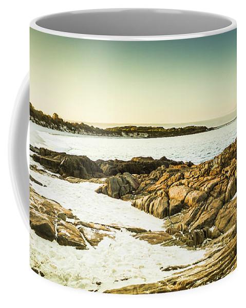 Ocean Coffee Mug featuring the photograph Scenic Coastal Dusk by Jorgo Photography - Wall Art Gallery