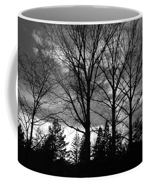 Black And White Coffee Mug featuring the photograph Scenic State Capital by Rob Hans