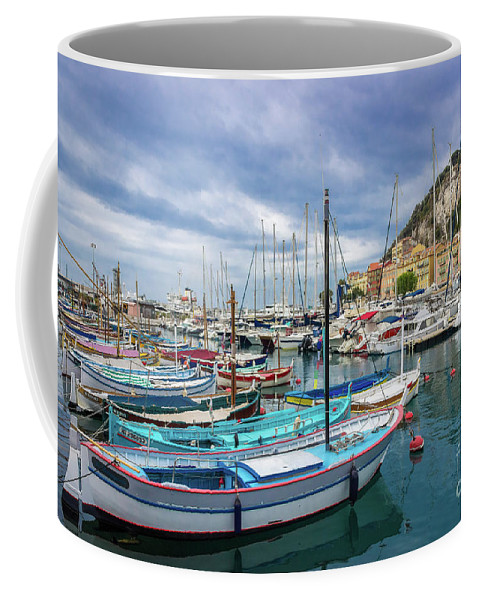 Castle Hill Coffee Mug featuring the photograph Scenic View Of Historical Marina In Nice, France by Liesl Walsh