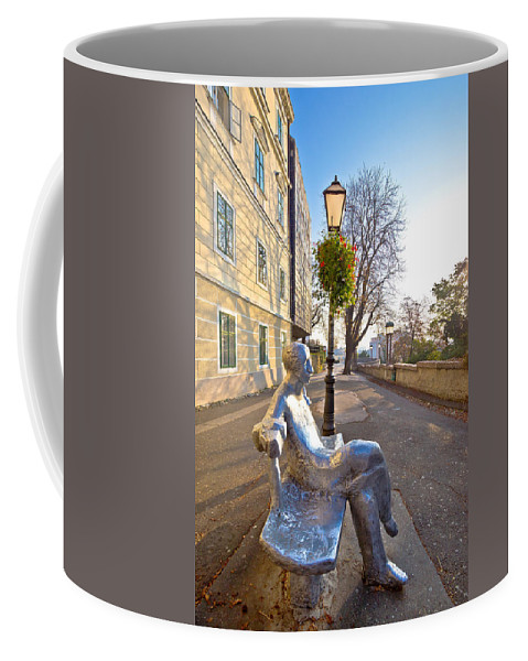 Town Coffee Mug featuring the photograph Scenic Zagreb Upper Town Walkway by Brch Photography