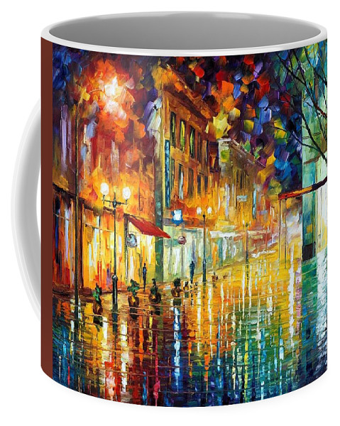 Afremov Coffee Mug featuring the painting Scent Of Rain by Leonid Afremov