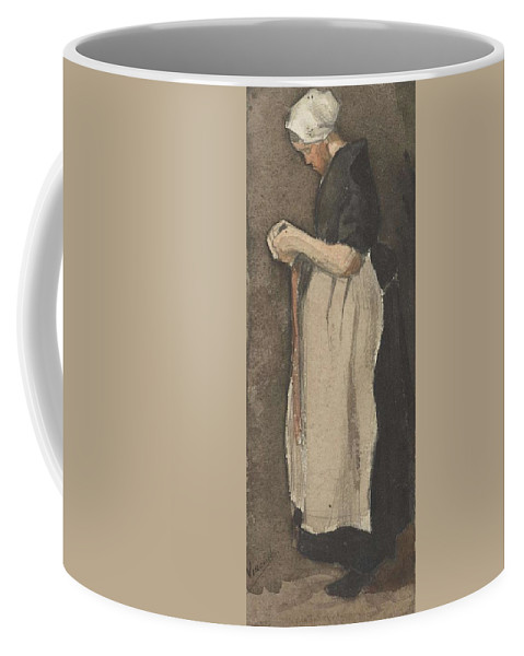 Beautiful Coffee Mug featuring the painting Scheveningen Woman The Hague, November - December 1881 Vincent Van Gogh 1853 189 by Artistic Panda