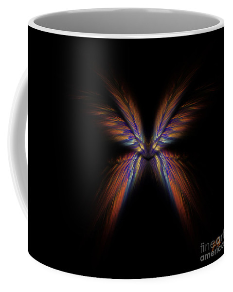 Rainbow Coffee Mug featuring the digital art Schism by Alina Davis
