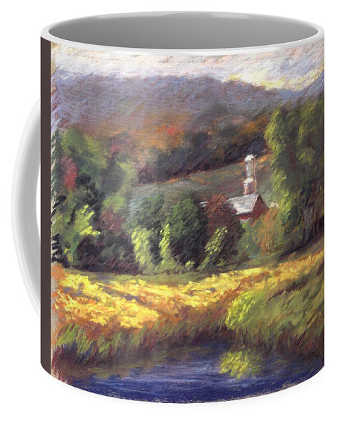 Schoharie Valley Upstate New York Landscape Coffee Mug featuring the pastel Schoharie Valley by Pat Snook