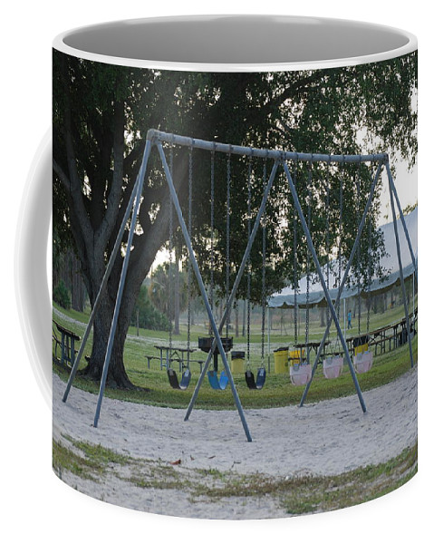 Swings Coffee Mug featuring the photograph School Is In Session by Rob Hans
