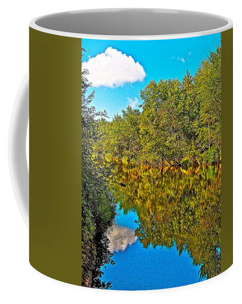 Schroon River Reflection In The Adirondacks Coffee Mug featuring the photograph Schroon River Reflection In The Adirondacks-new York by Ruth Hager