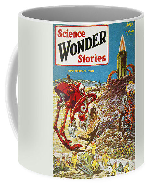 1929 Coffee Mug featuring the photograph Sci-fi Magazine Cover, 1929 by Granger