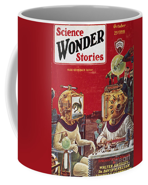 1929 Coffee Mug featuring the photograph Science Fiction Cover, 1929 by Granger