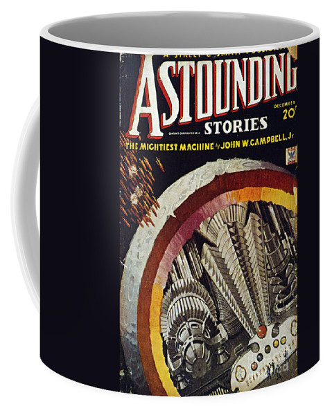 1934 Coffee Mug featuring the photograph Science Fiction Cover, 1934 by Granger