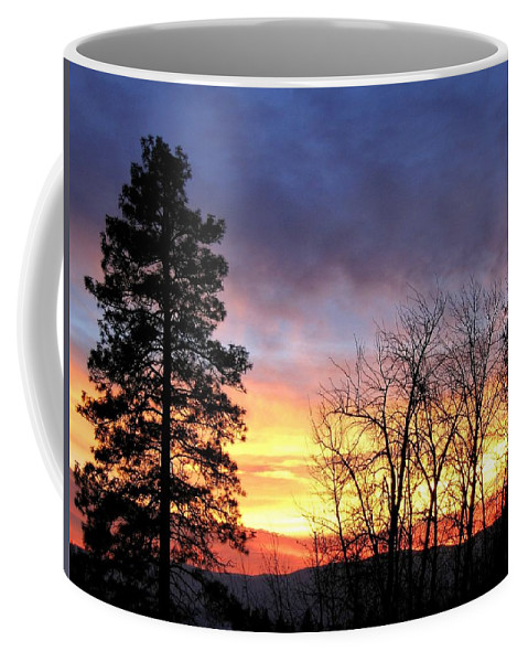 Sunset Coffee Mug featuring the photograph Scintillating Sunset by Will Borden