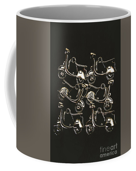 Transport Coffee Mug featuring the photograph Scooters Of Pop Culture by Jorgo Photography - Wall Art Gallery