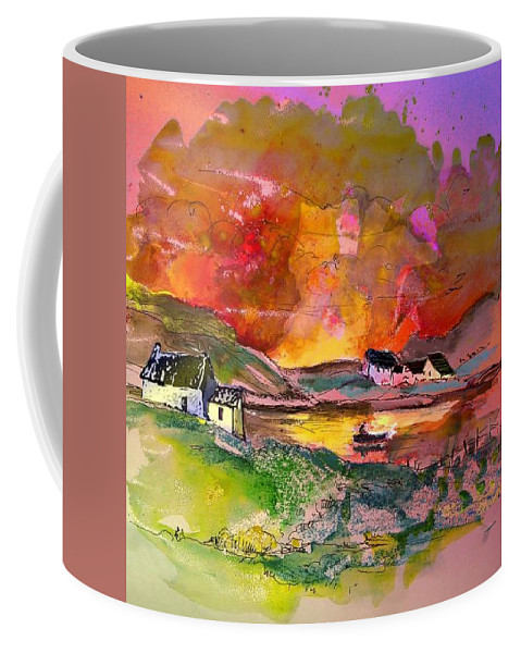 Scotland Paintings Coffee Mug featuring the painting Scotland 07 by Miki De Goodaboom
