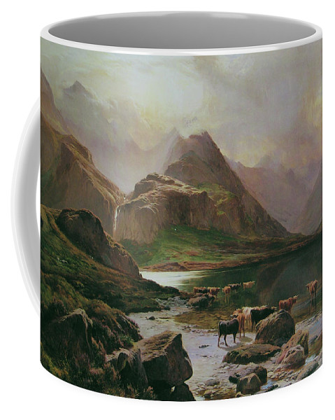 Sidney Richard Percy Loch Coruisk Coffee Mug featuring the painting Scotland by Sidney Richard