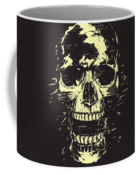 Skull Coffee Mug featuring the mixed media Scream by Balazs Solti