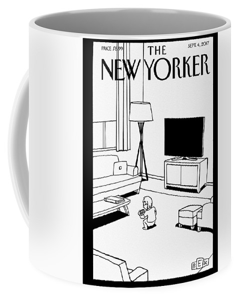 Screen Time Coffee Mug featuring the drawing Screen Time by Bruce Eric Kaplan