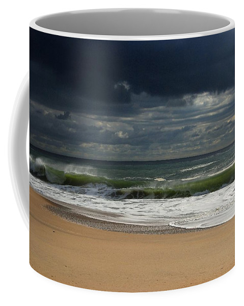 Jersey Shore Coffee Mug featuring the photograph Sea And Sky - Jersey Shore by Angie Tirado