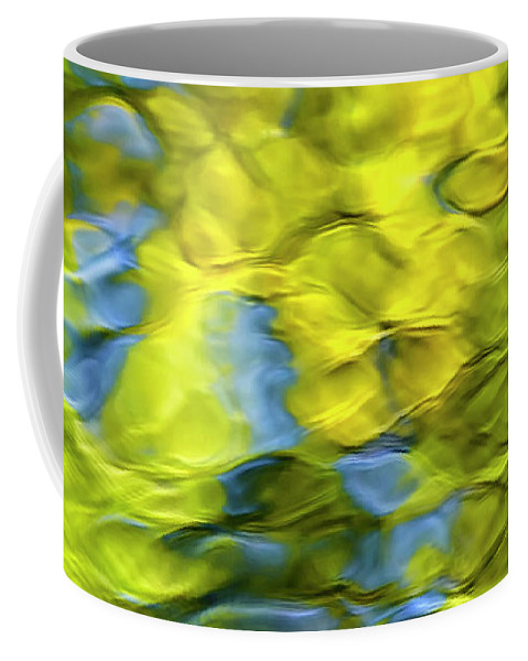 Mosaic Coffee Mug featuring the photograph Sea Breeze Mosaic Abstract by Christina Rollo