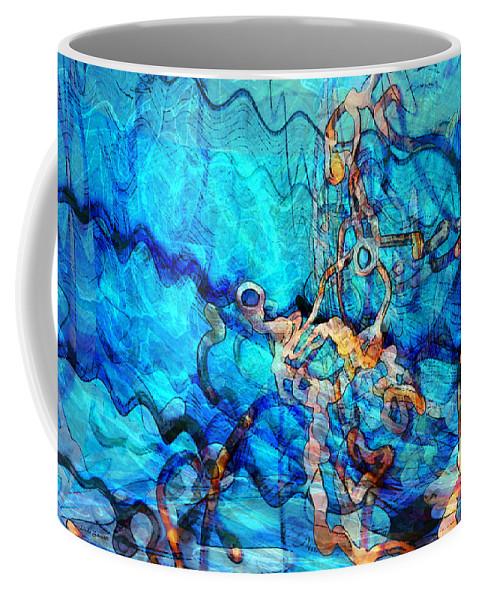 Digital Art Coffee Mug featuring the digital art Sea Creatures by Linda Sannuti