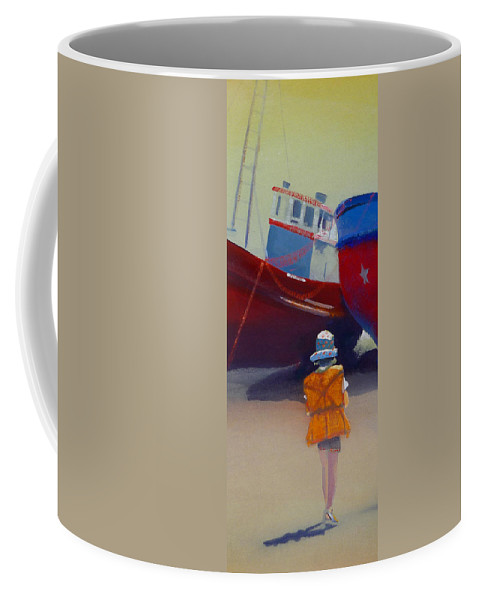 Dreamscape Coffee Mug featuring the painting Sea Dreamer by Charles Stuart