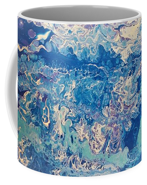 Bubbles. Original Coffee Mug featuring the painting Bubbles by Ivy Stevens-Gupta