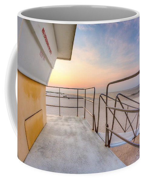 Clouds Coffee Mug featuring the photograph Sea For Miles by Gary Oliver