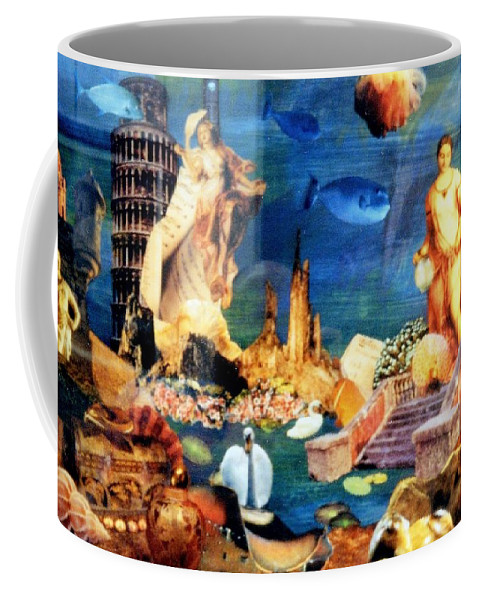 Fantasy Coffee Mug featuring the painting Sea Garden by Gail Kirtz