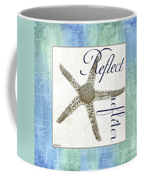 Starfish Coffee Mug featuring the painting Sea Glass 3 by Debbie DeWitt