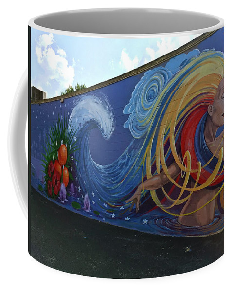 Mural Coffee Mug featuring the photograph Sea Goddess by Denise Mazzocco