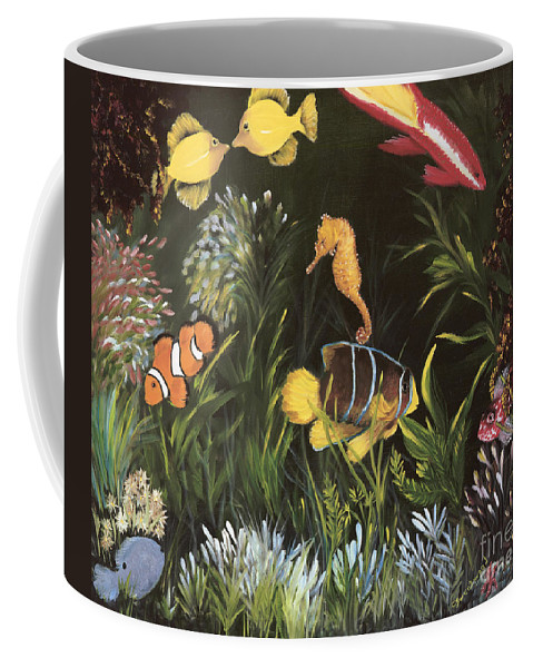 Sea Coffee Mug featuring the painting Sea Harmony by Carol Sweetwood