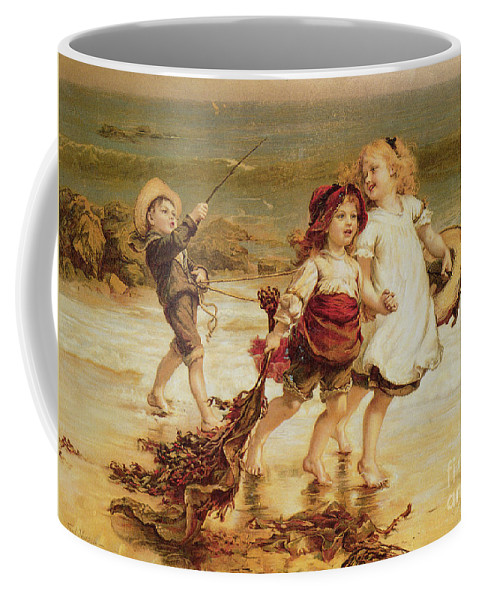 Sea Coffee Mug featuring the painting Sea Horses by Frederick Morgan