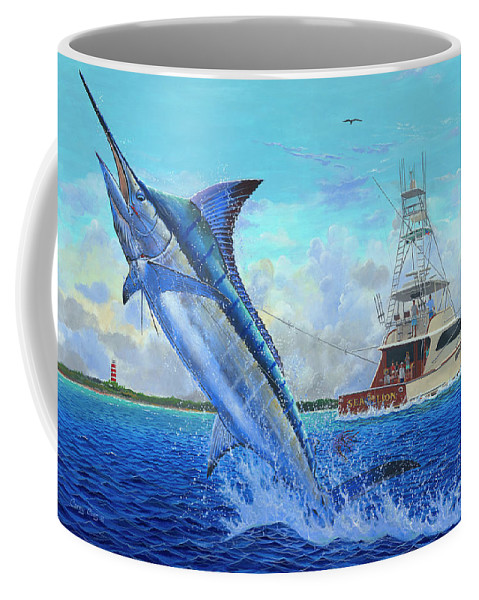 Marlin Coffee Mug featuring the painting Sea Lion by Carey Chen