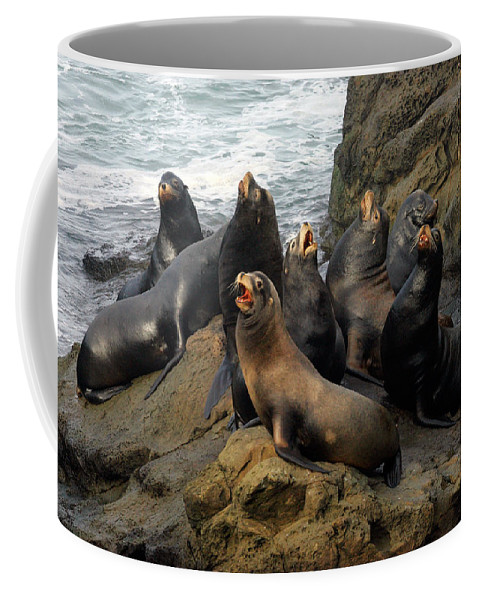 Sea Lion Coffee Mug featuring the photograph Sea Lion Chorus by Randall Ingalls