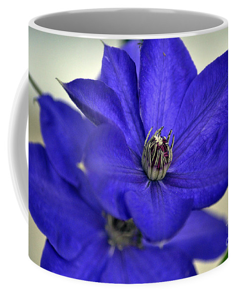 Clay Coffee Mug featuring the photograph Sea Of Blue by Clayton Bruster