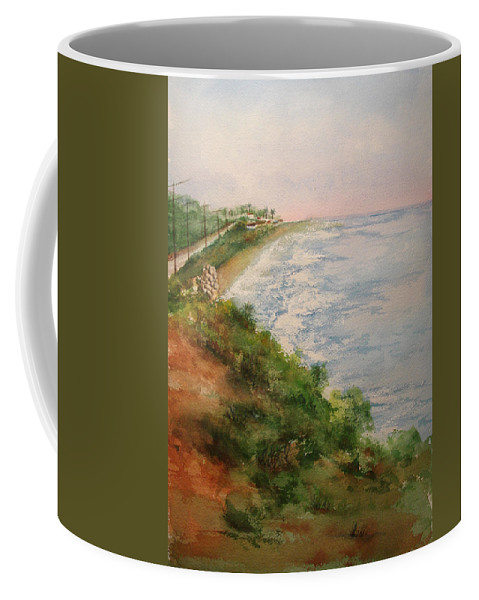 Landscape Coffee Mug featuring the painting Sea Of Dreams by Debbie Lewis