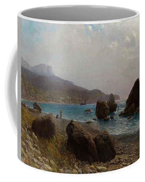 Lev Feliksovich Lagorio (russian Coffee Mug featuring the painting Sea Shore Crimea by MotionAge Designs