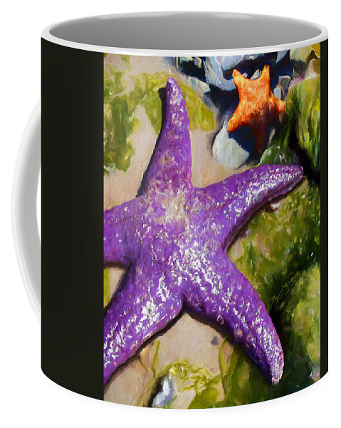 Sea Stars Coffee Mug featuring the painting Sea Stars by David Wagner