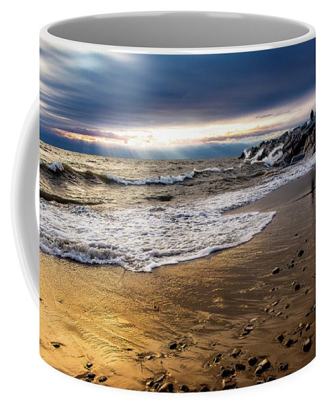 Lake Coffee Mug featuring the photograph Sea Stones by Chase Gagnon
