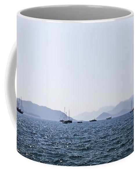 Boat Coffee Mug featuring the photograph Sea Stroll by Svetlana Sewell