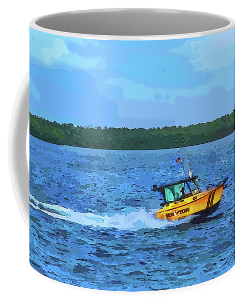Susan Molnar Coffee Mug featuring the photograph Sea Tow To The Rescue by Susan Molnar