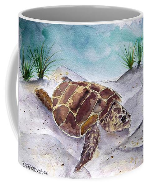 Sea Turtle Coffee Mug featuring the painting Sea Turtle 2 by Derek Mccrea