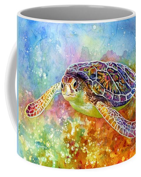 Turtle Coffee Mug featuring the painting Sea Turtle 3 by Hailey E Herrera