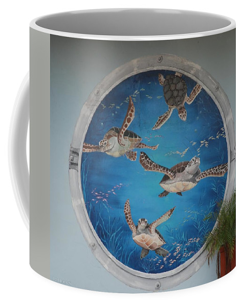 Sea Turtles Coffee Mug featuring the photograph Sea Turtles by Rob Hans
