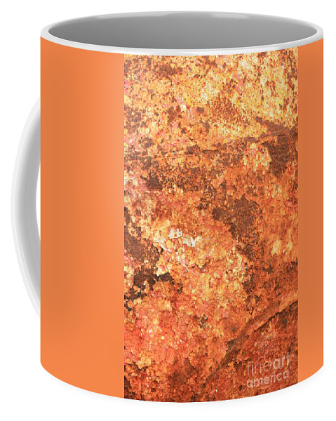 Warm Colors Coffee Mug featuring the photograph Sea Weathered- Abstract Art by Carol Groenen