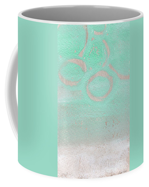 Abstract Coffee Mug featuring the mixed media Seaglass by Linda Woods