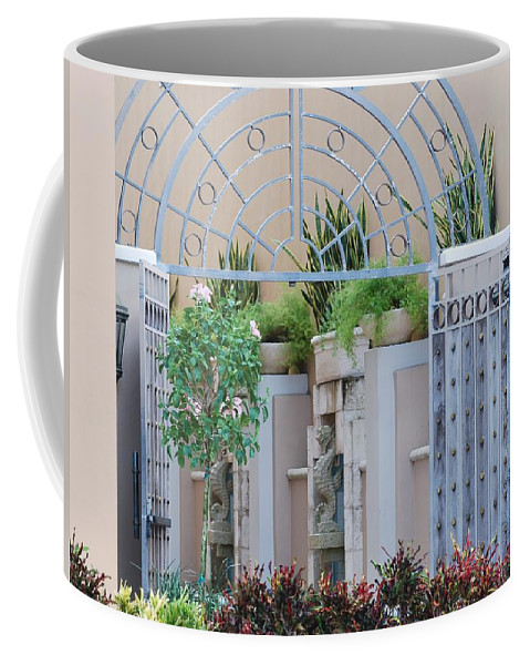 Architecture Coffee Mug featuring the photograph Seahorse Fountian by Rob Hans