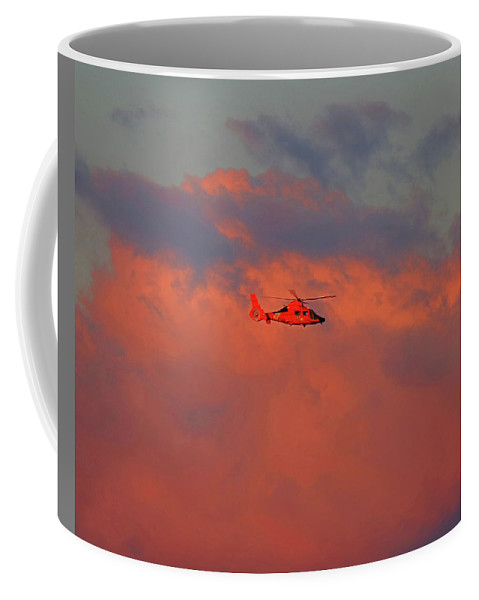 Search & Rescue Coffee Mug featuring the photograph Search And Rescue by Steve Bell