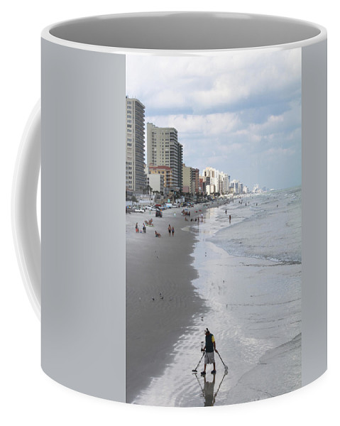Ocean Coffee Mug featuring the photograph Searching For Gold by Deborah Benoit
