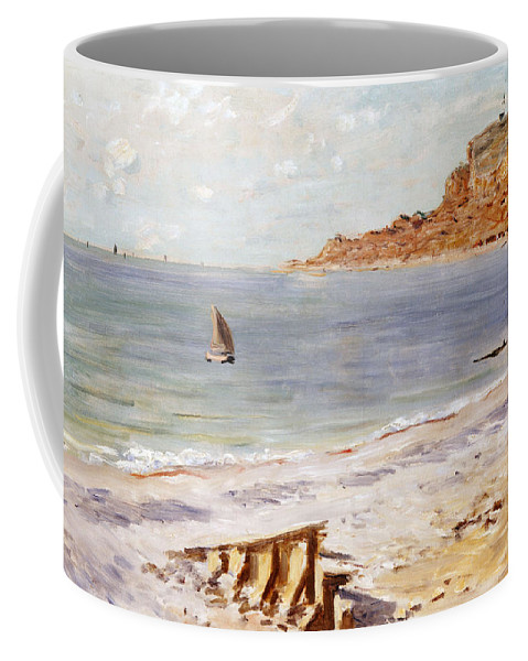 Seascape At Sainte-adresse (oil On Canvas) By Claude Monet (1840-1926) Coffee Mug featuring the painting Seascape at Sainte Adresse by Claude Monet