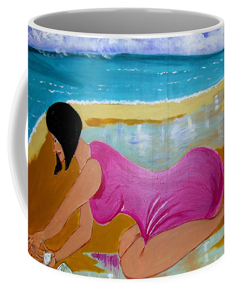 Dreams Coffee Mug featuring the painting Seashells by Rusty Gladdish